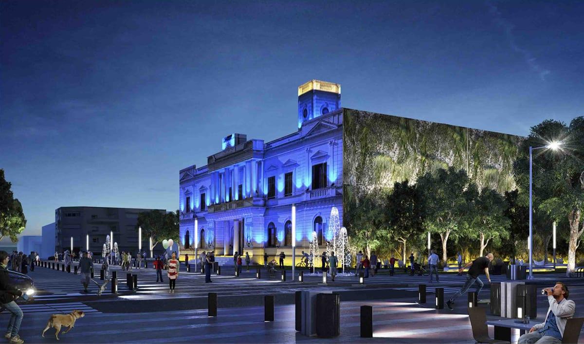 Remodelación y Organización del centro de la ciudad de Azul, 2do. Premio 1