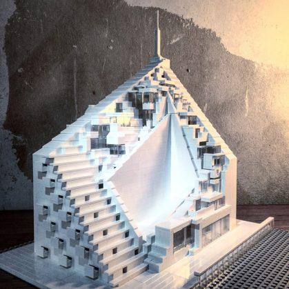 Arquitectura brutalista hecha con Lego 1
