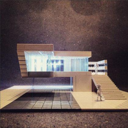 Arquitectura brutalista hecha con Lego 5