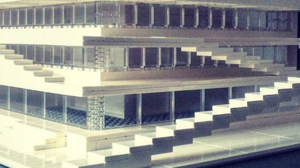 Arquitectura brutalista hecha con Lego 33