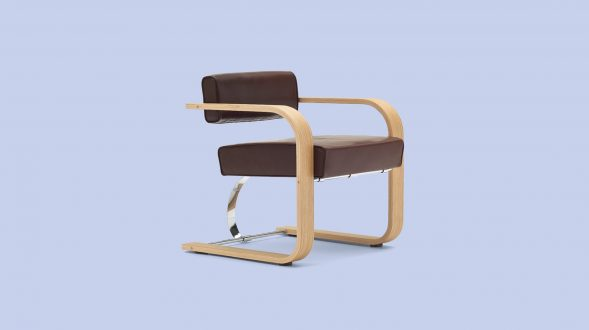 Cantilever Chair Wood 6