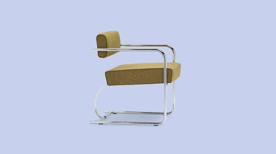 Cantilever Chair Steel 14