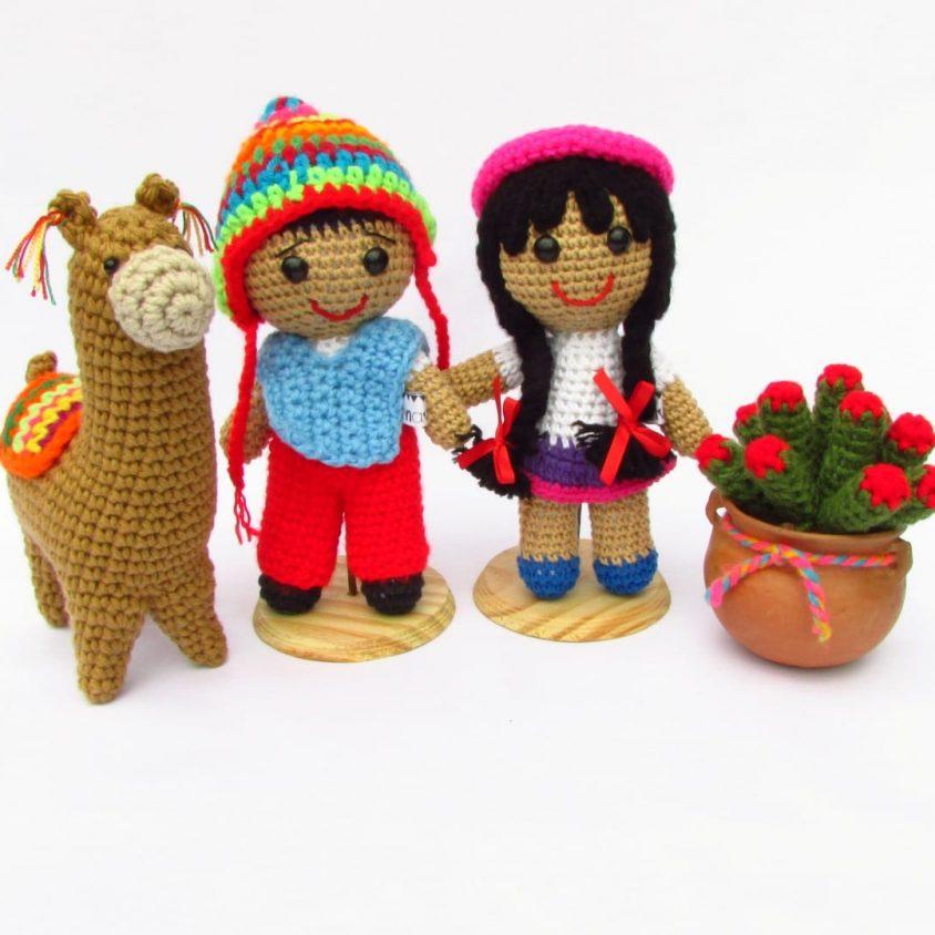 Personajes del Bicentenario en crochet 4
