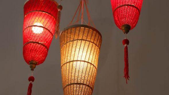 Lámpara de bambú 23