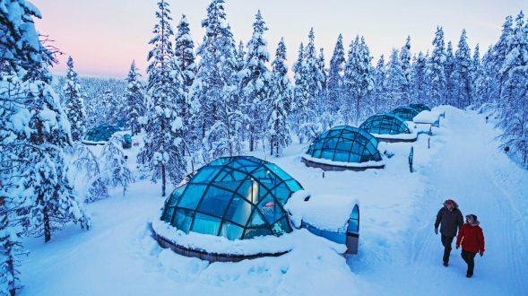 Viendo la aurora boreal desde la cama 2