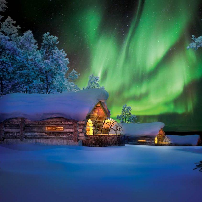 Viendo la aurora boreal desde la cama 20