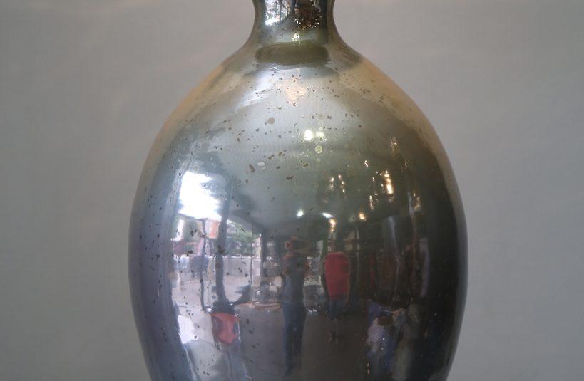 Vasija de vidrio tornasolado 39
