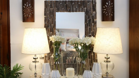 Espejo de madera rústico 9