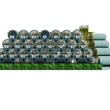 """Microdepartamentos """"tubo"""" en Japon 8"""
