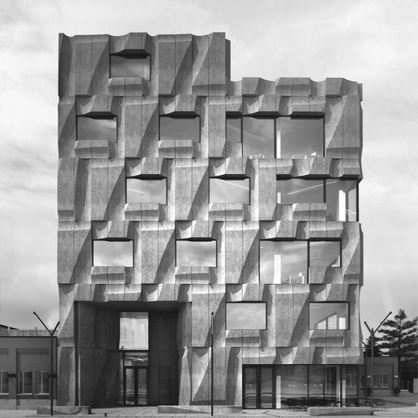 Edificio de hormigón prefabricado 1