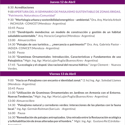 III SEMINARIO DE PAISAJISMO SUSTENTABLE PARA ZONAS ÁRIDAS 2