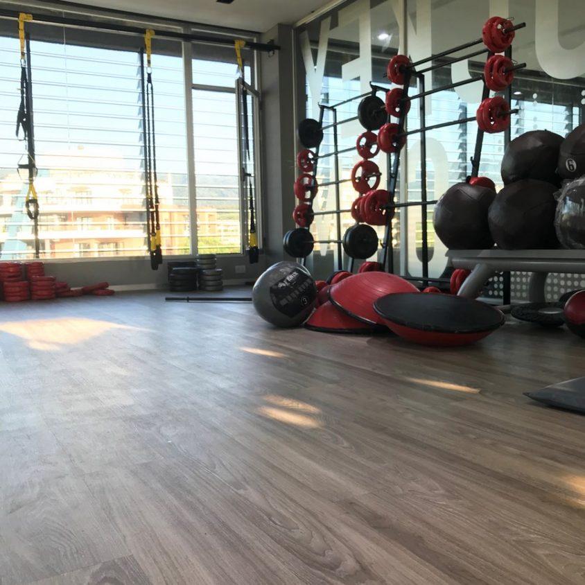 Pisos PVC Wud en el Jockey Gym 1
