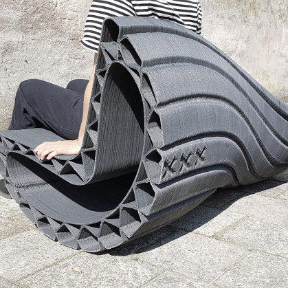 Banco reciclado en 3D 4