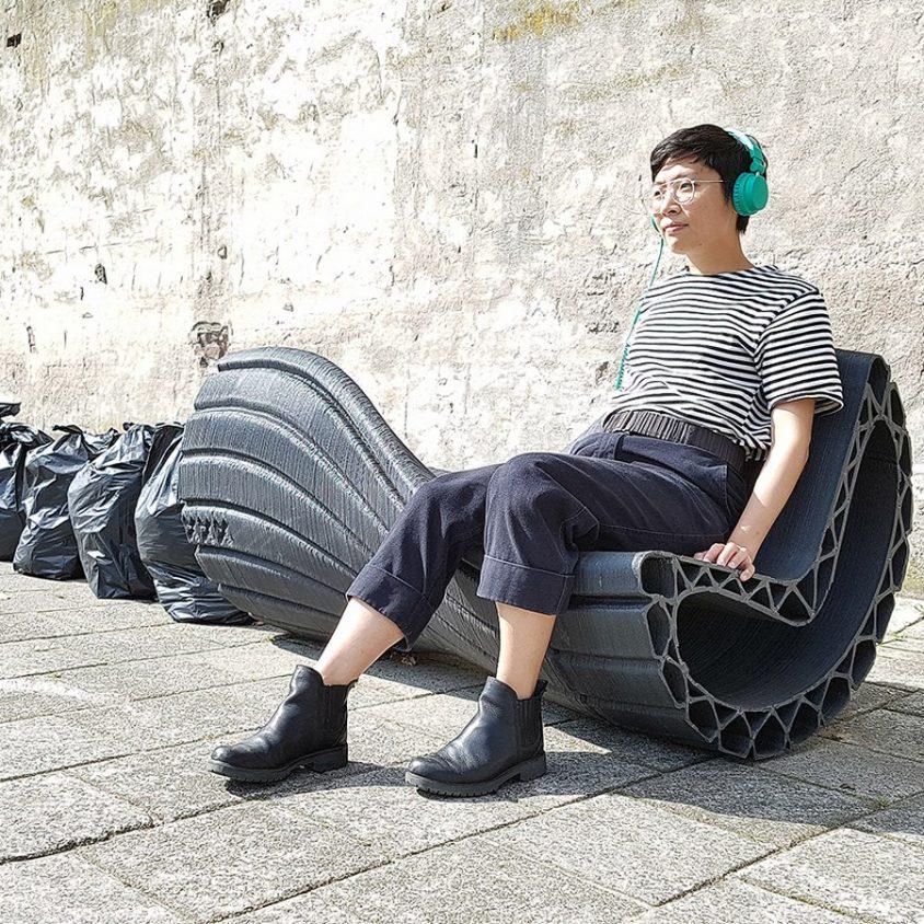Banco reciclado en 3D 1
