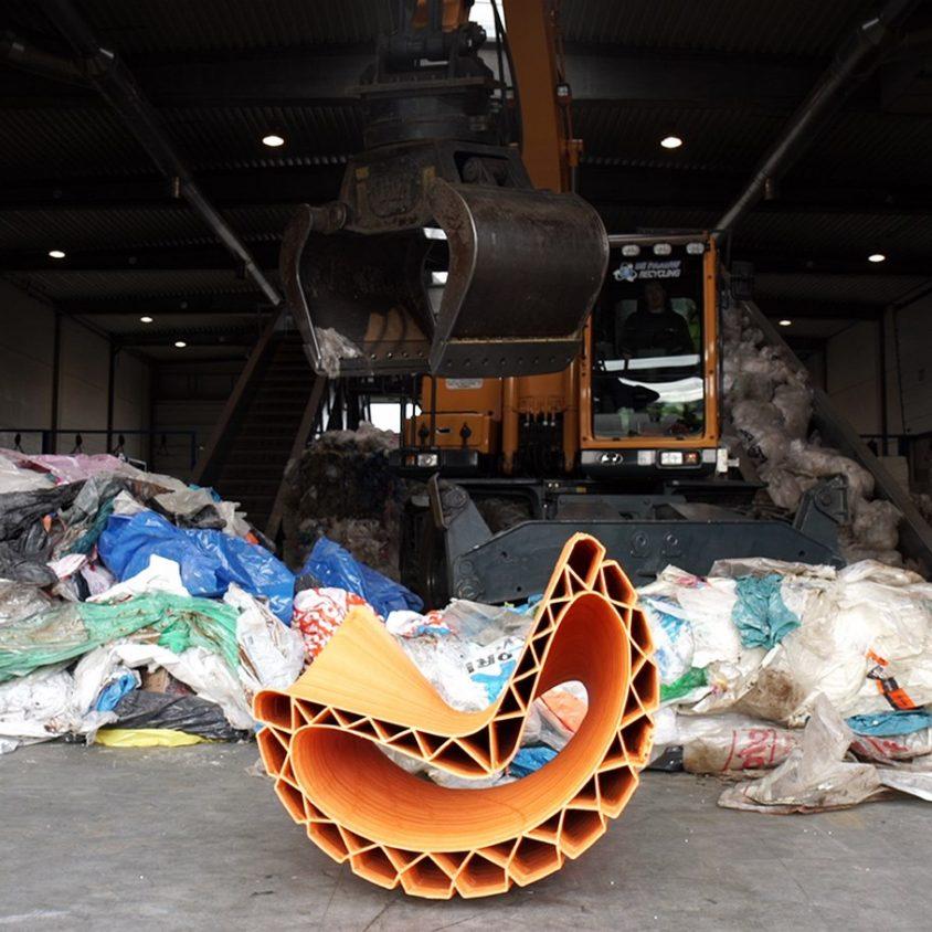 Banco reciclado en 3D 3