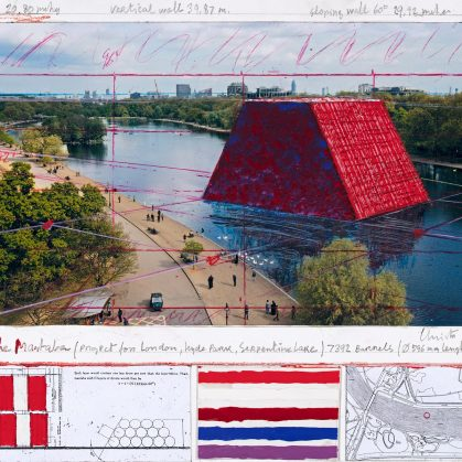 The London Mastaba, arte sobre el agua 3