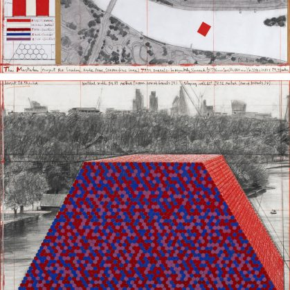 The London Mastaba, arte sobre el agua 4