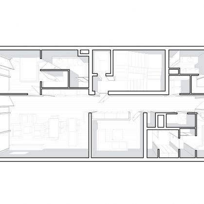 La fachada de hormigón funcional de Sway House 6