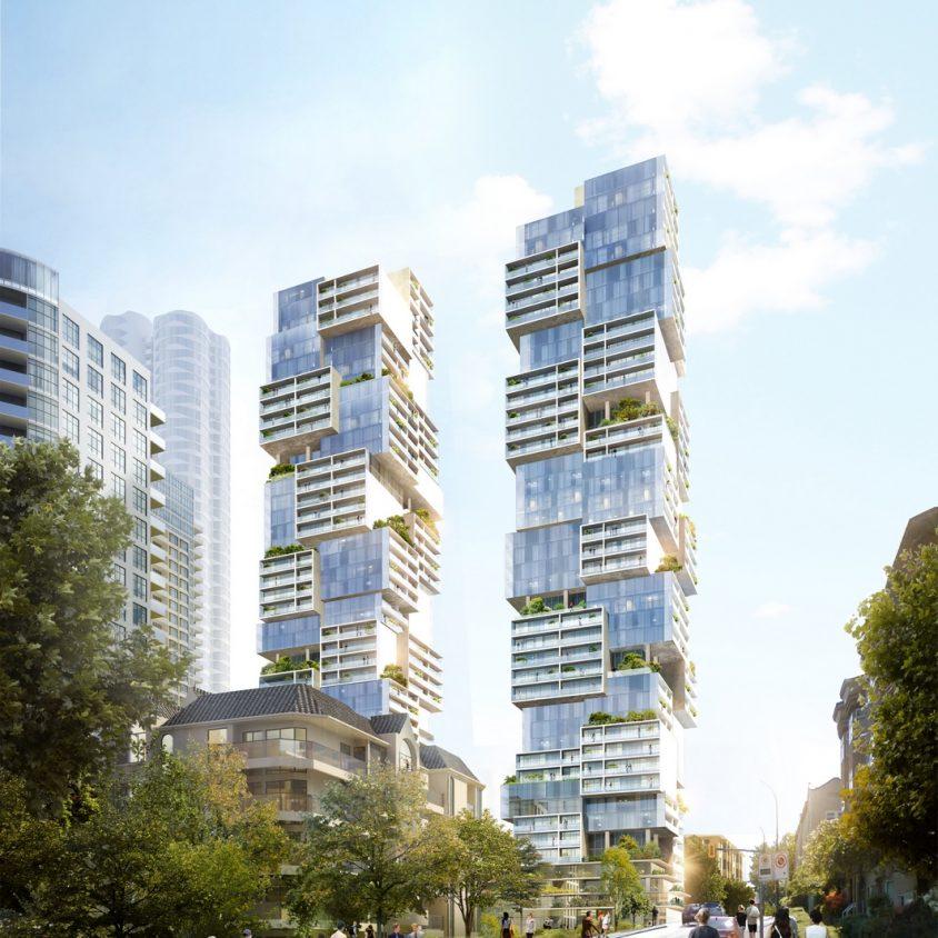 Las torres gemelas residenciales de Vancouver 1