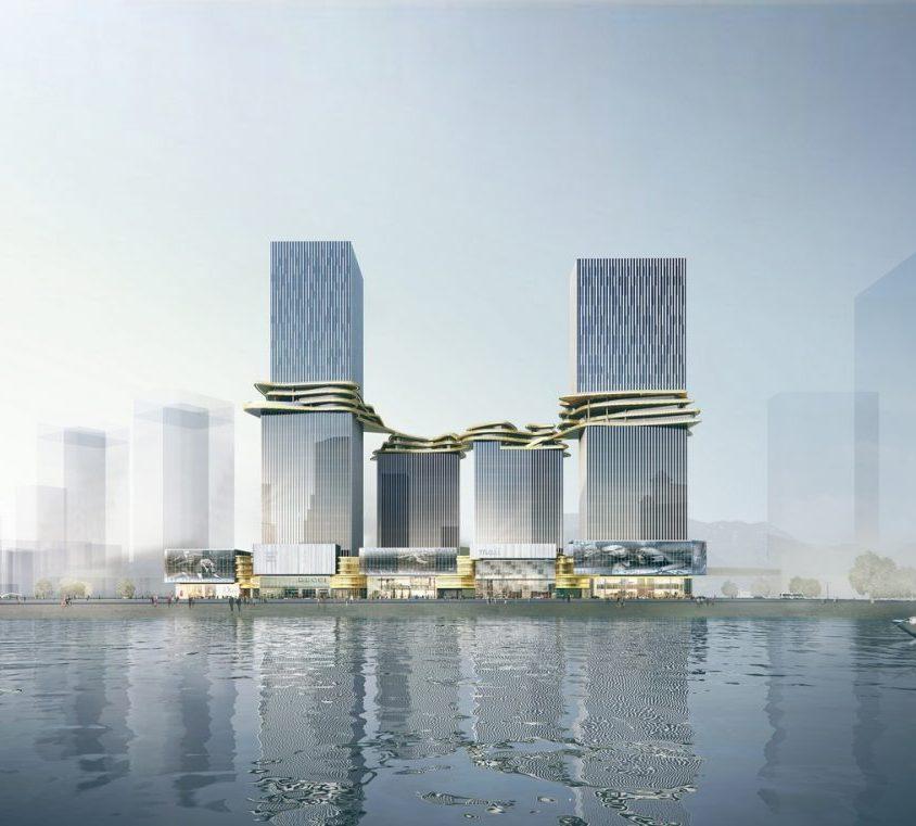 Aedas planea un puente para conectar cuatro torres 1