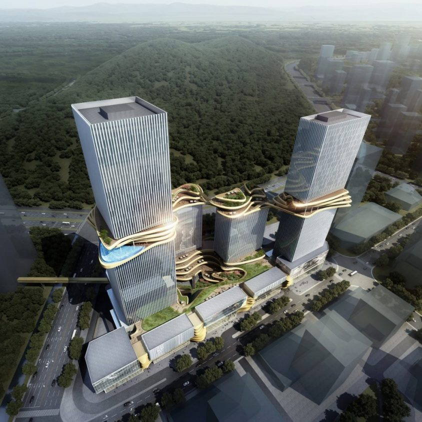 Aedas planea un puente para conectar cuatro torres 2