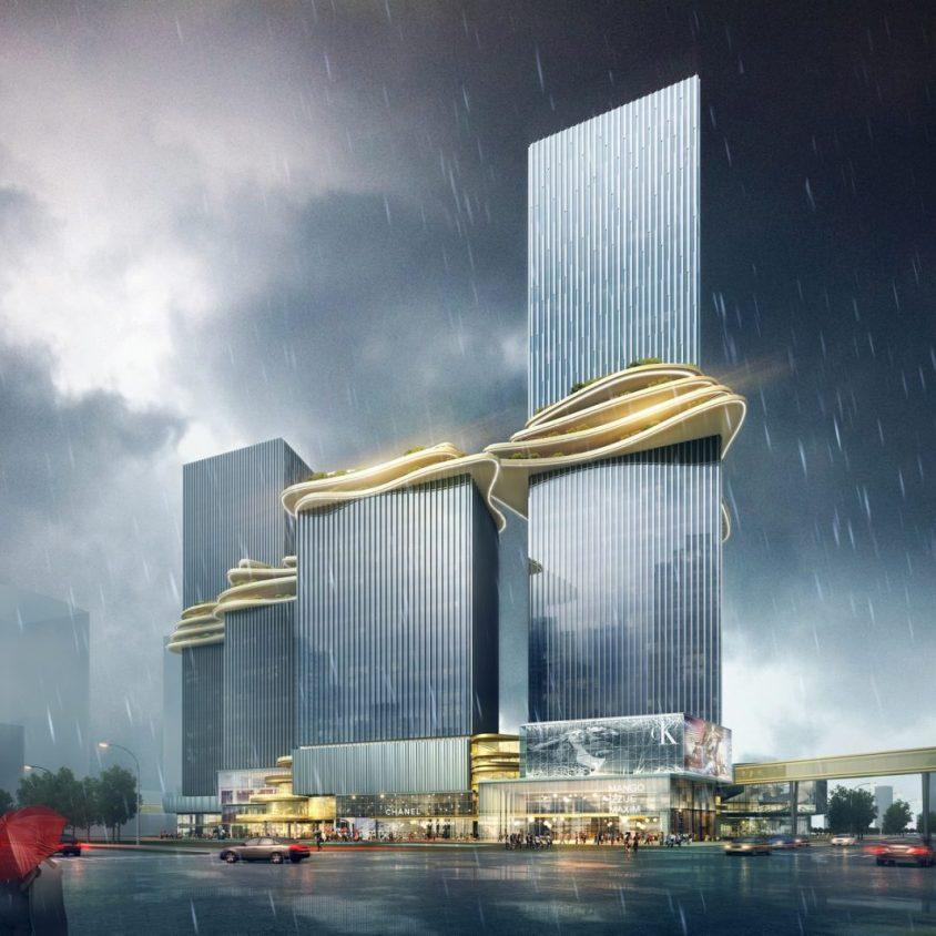 Aedas planea un puente para conectar cuatro torres 4