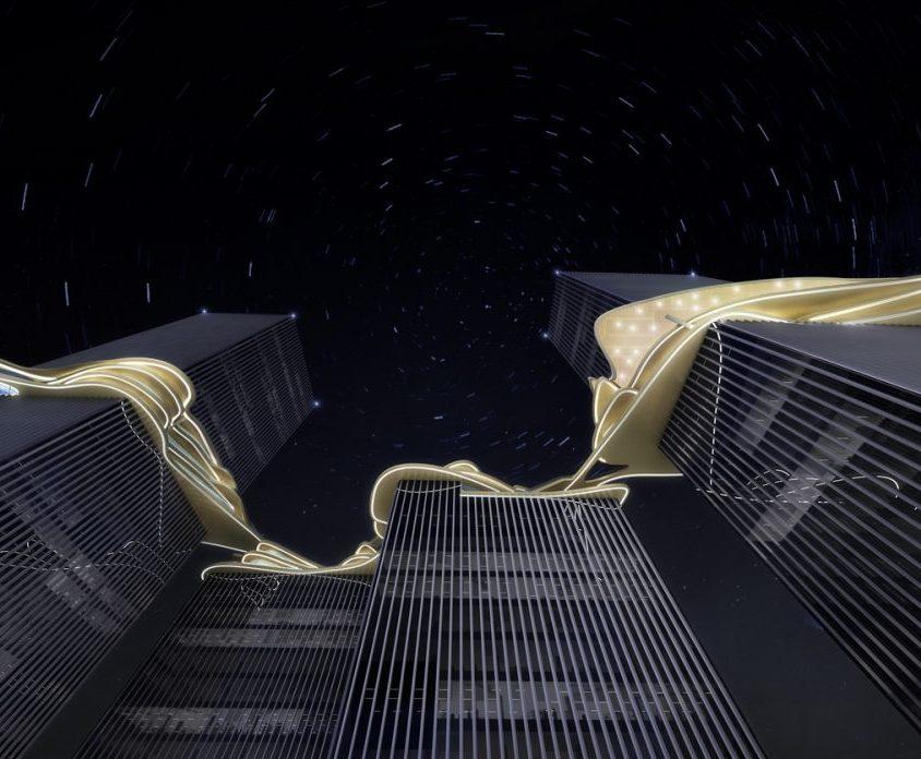 Aedas planea un puente para conectar cuatro torres 5