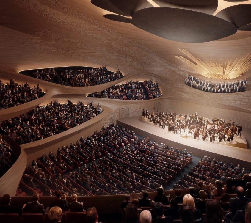 Zaha Hadid Architects fue elegida para construir una sala de conciertos 8