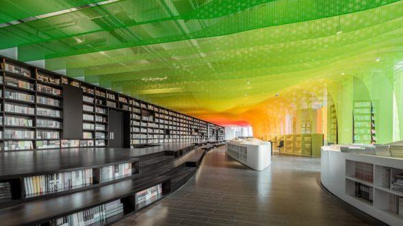 Un arcoiris en la librería Zhongshu 6