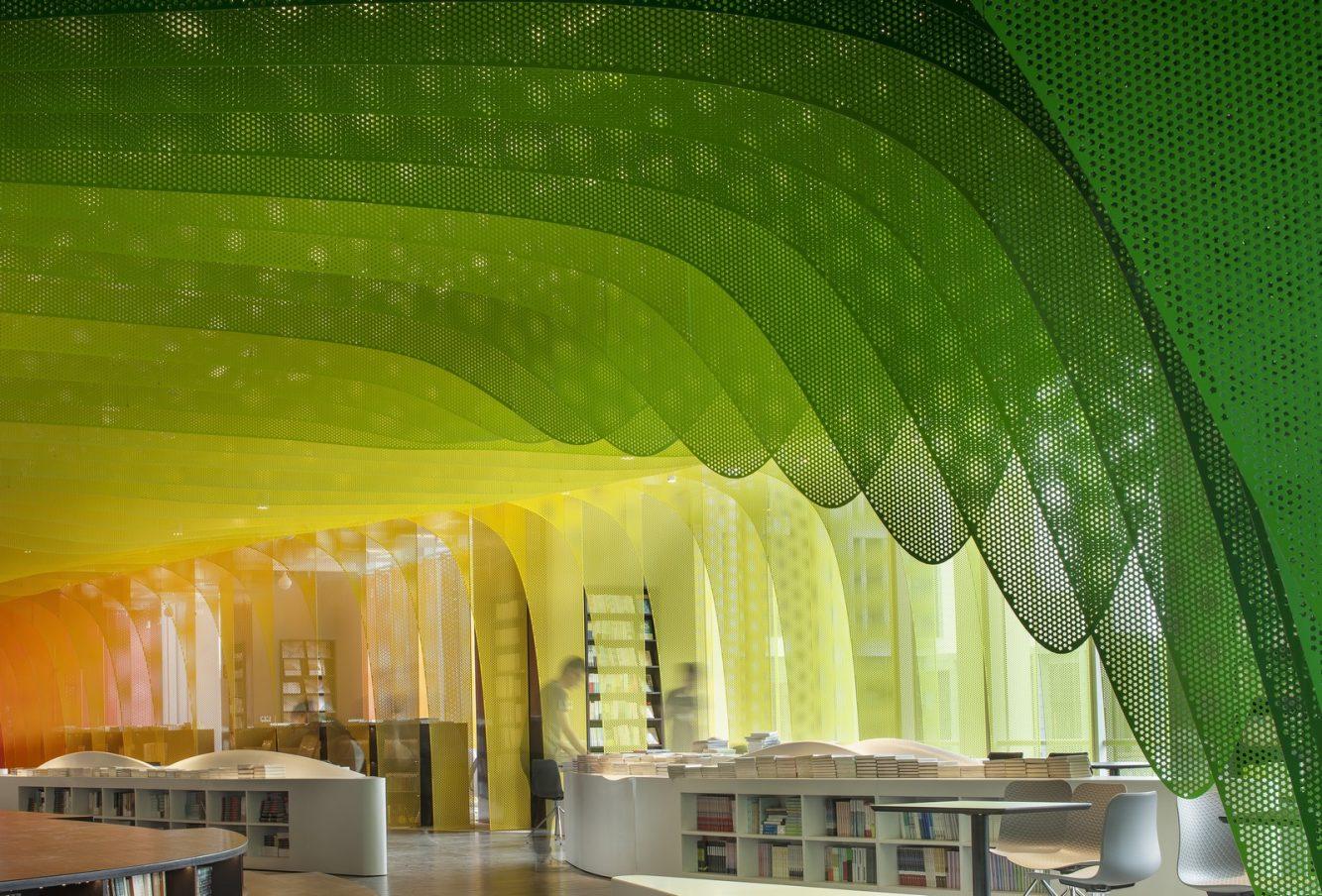 Un arcoiris en la librería Zhongshu 14