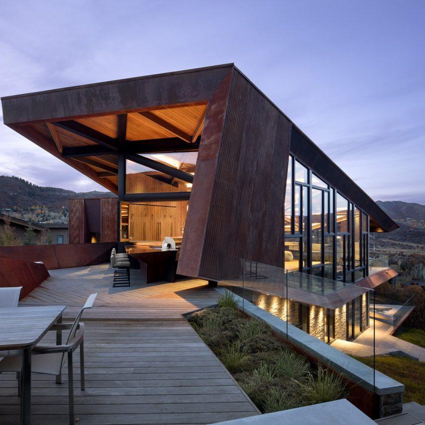 Owl Creek, una casa entre el cielo y las montañas 8