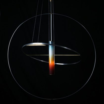 La puesta del sol en una lámpara 6