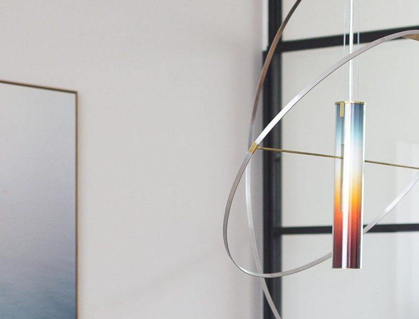La puesta del sol en una lámpara 4