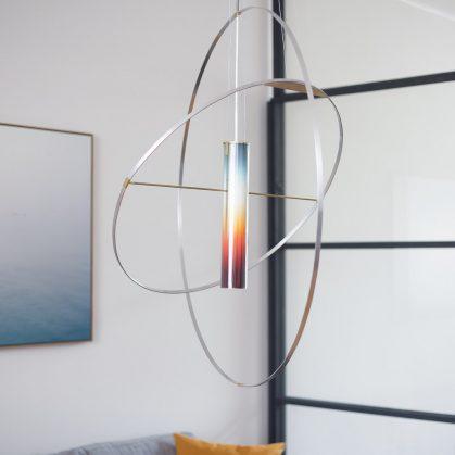 La puesta del sol en una lámpara 15