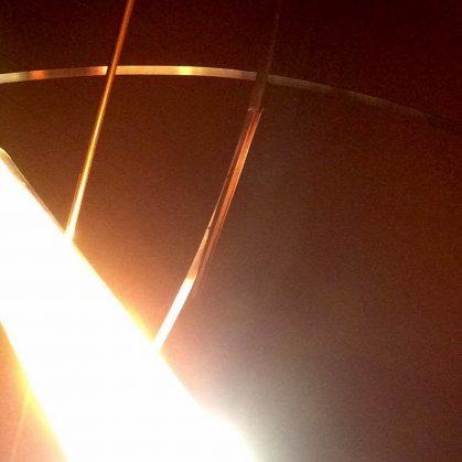 La puesta del sol en una lámpara 17