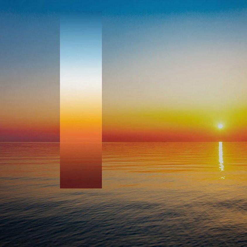 La puesta del sol en una lámpara 3