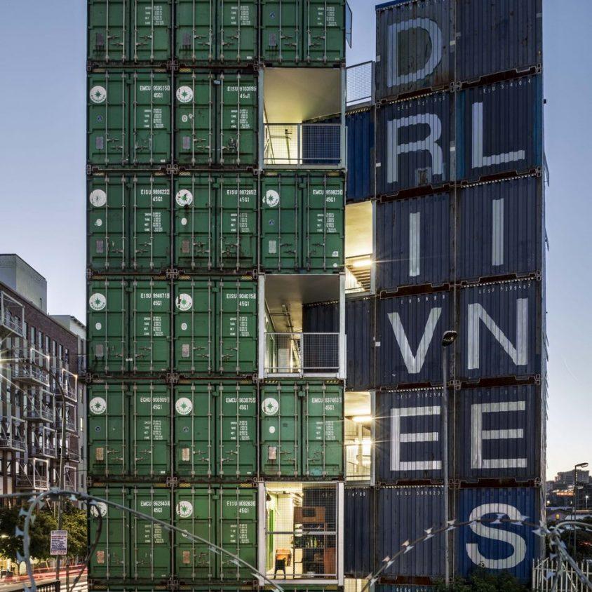 Drivelines Studios, un edificio hecho de contenedores 8