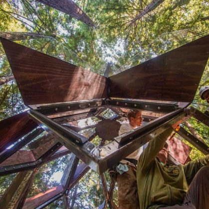 La casa de árbol con forma de piña 8