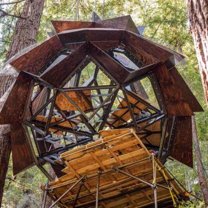 La casa de árbol con forma de piña 7