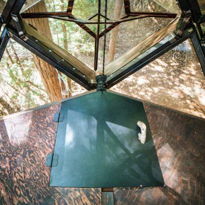 La casa de árbol con forma de piña 14