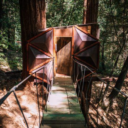 La casa de árbol con forma de piña 26