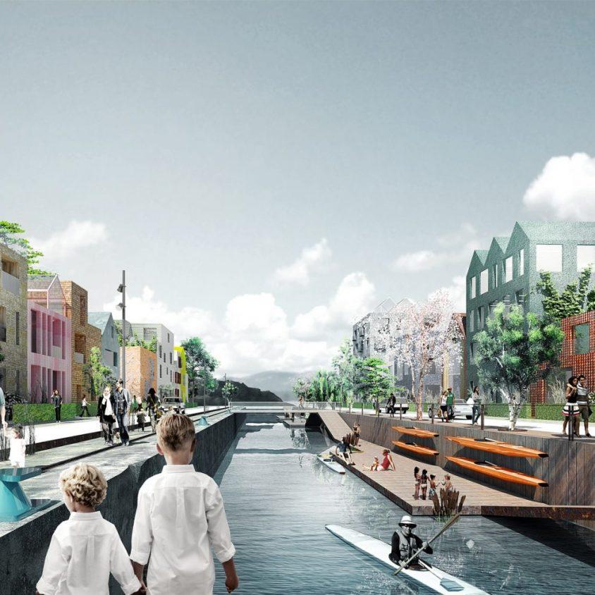 Un vecindario real en el puerto 1