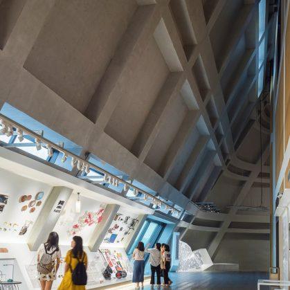 El extenso centro cultural Longgang 14