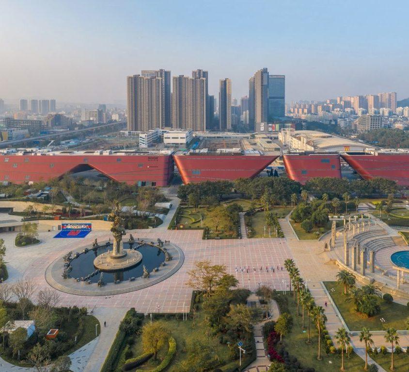 El extenso centro cultural Longgang 1