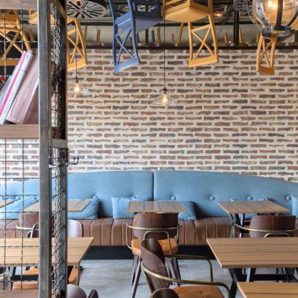 El estilo industrial de Strafta Gastro bar 12