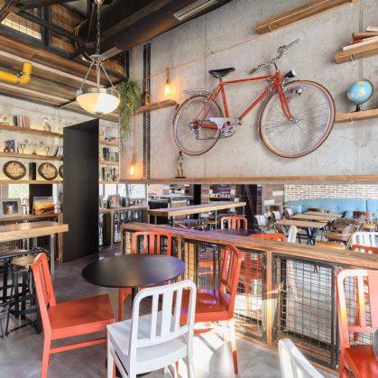 El estilo industrial de Strafta Gastro bar 14
