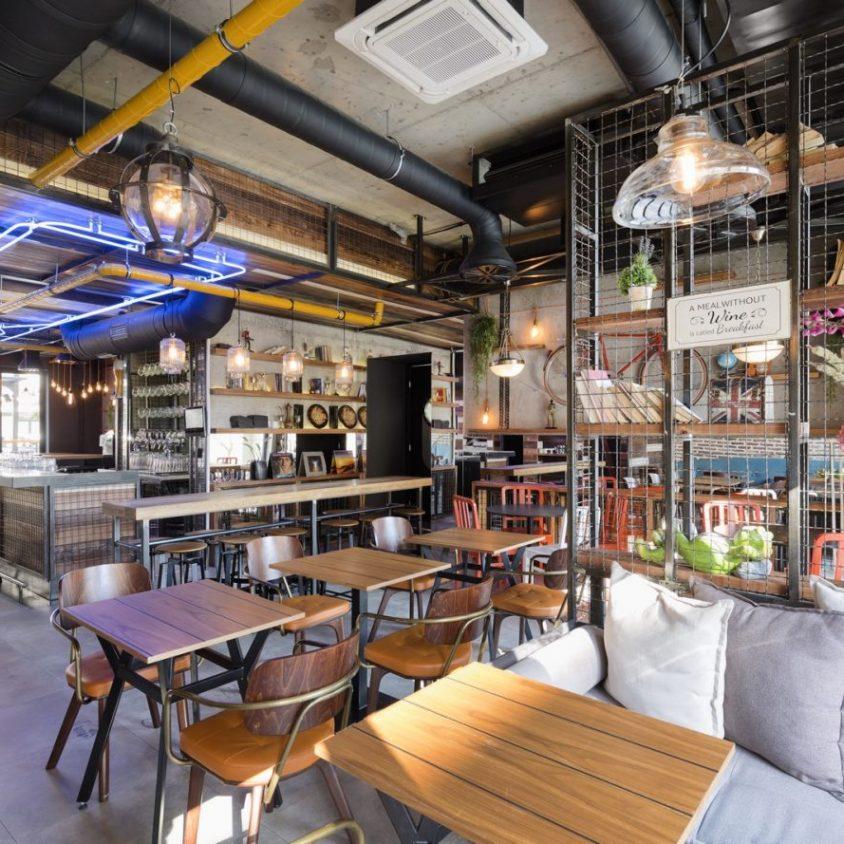 El estilo industrial de Strafta Gastro bar 6