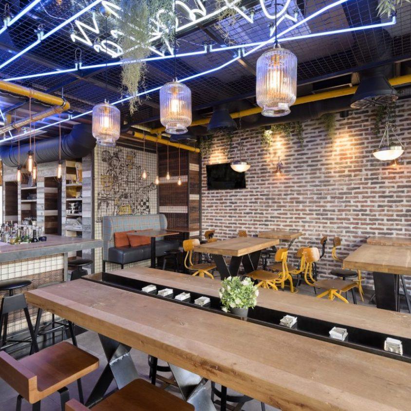 El estilo industrial de Strafta Gastro bar 10