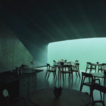 El restó submarino Under está listo para servir 27