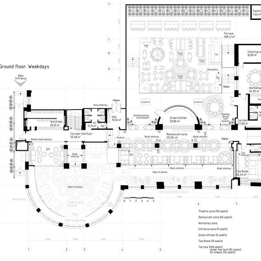 Un espacio multifuncional a partir de una biblioteca 2
